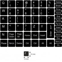 N3 Nyckelklistermärken - medium kit - svart bakgrund - 13:13 mm