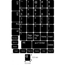 N6 Nyckelklistermärken - medium kit - svart bakgrund - 12,5:10,5mm