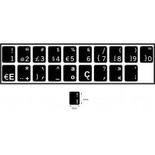 N19 Nyckelklistermärken - Portugisiska - medium kit - svart bakgrund - 14:12 mm