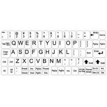 Klistermärken till tangentbordet - komplett set - vit bakgrund